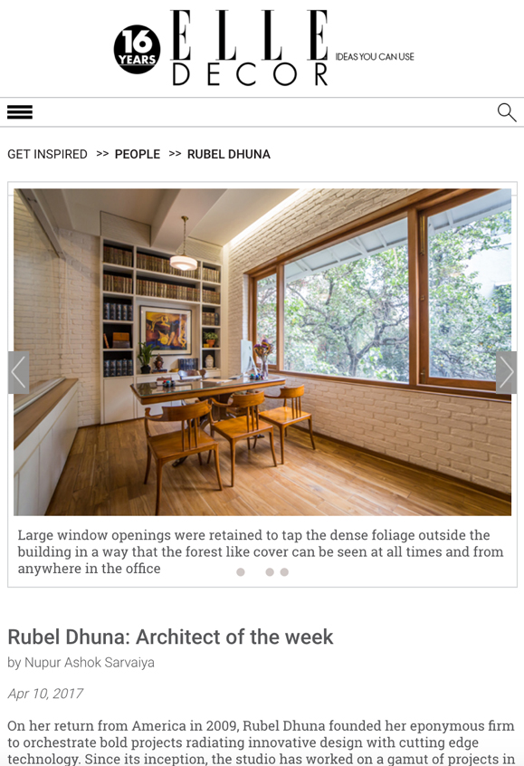 Elle Decor online feature 16 a - Rubel Dhuna Architect